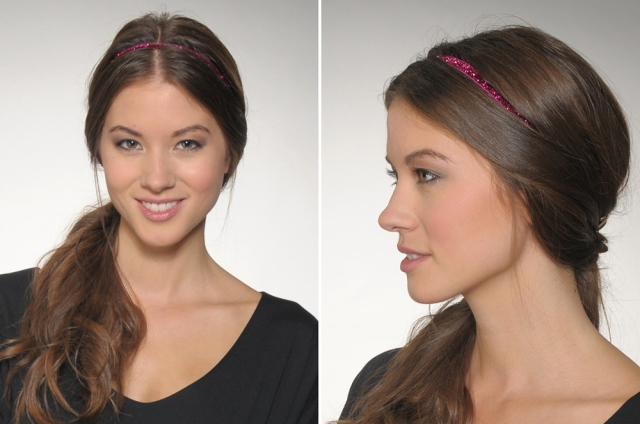 Side Ponytail with Headband